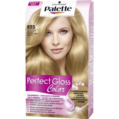 Palette Perfect Gloss Tinte capilar Perfect Gloss nº 855 Rubio claro soleado
