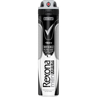 Rexona Desodorante for men spray 200 ml. Invisible anti-manchas