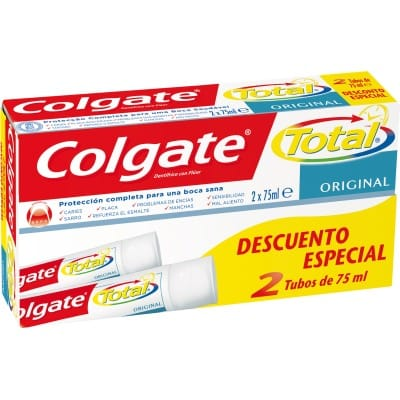 Colgate Pasta dental 75 ml. Total Original pack 2 unidades