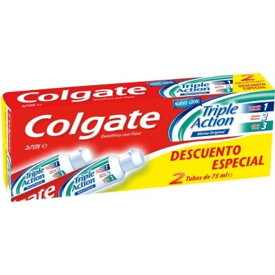 Colgate Pasta dental 75 ml. Triple Acción pack 2 unidades