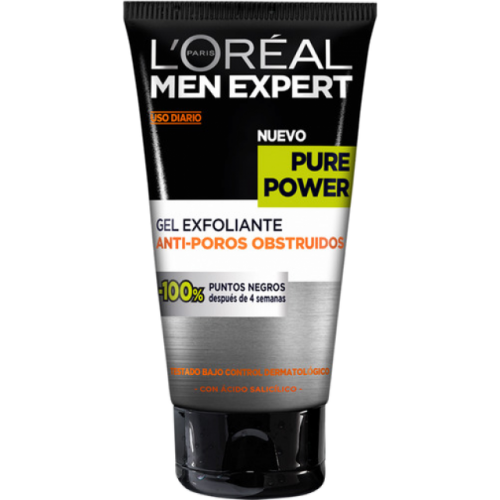 Men Expert Gel exfoliante Pure Power 150 ml.