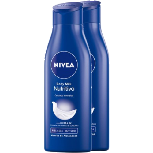 Nivea Body milk 400 ml. Nutritivo pack 2 unidades