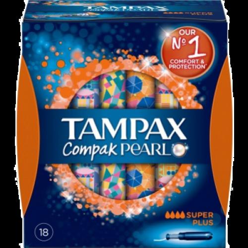 Tampax Tampón Compak Pearl super plus 18 unidades