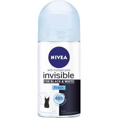 Nivea Desodorante roll-on 50 ml. Invisible for Black & White Fresh