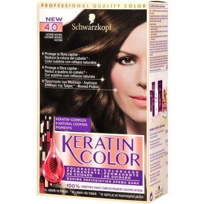 Keratin Tinte capilar nº 4.0 Castaño natural