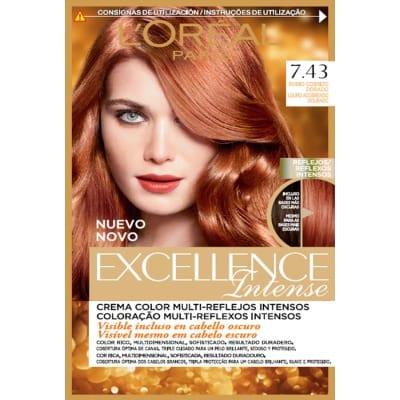 Excellence Tinte Capilar Intense 7.43 Rubio Cobrizo Dorado
