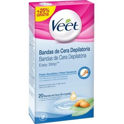 Veet Depilatorio corporal piel sensible 16 bandas + 25%
