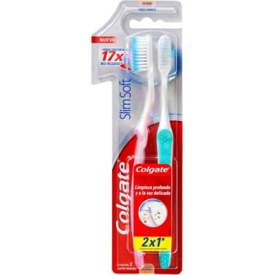 Colgate Cepillo Dental Slim Soft Pack 2 x 1
