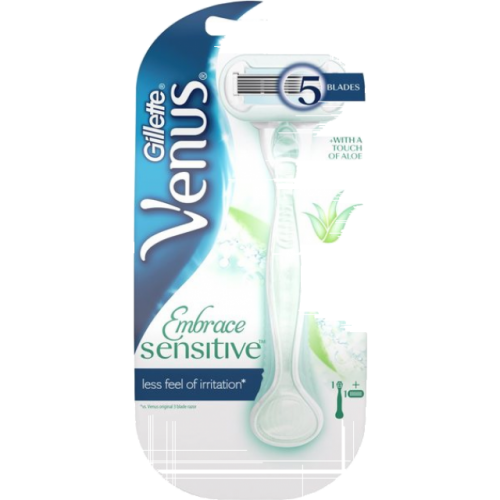 gillette máquina depilatoria venus embrace sensitive