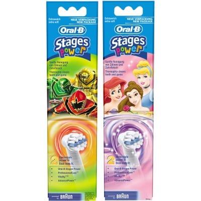 Oral-b Recambio Cepillo Dental Eléctrico infantil Stage Powers 2 Unidades