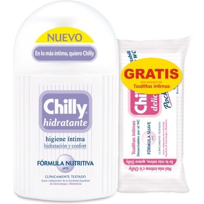 Chilly PACK GEL INTIMO CHILLY HIDRATANTE+TOALLITAS