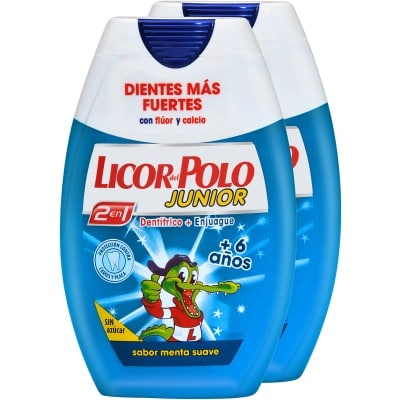 Licor Del Polo Pasta Dental 2 en 1 Junior Menta Pack 2 Unidades