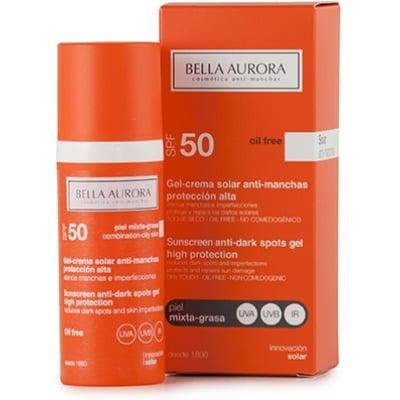 Bella Aurora GEL SOLAR ANTIMANCHAS SFP50 PIEL GRASA