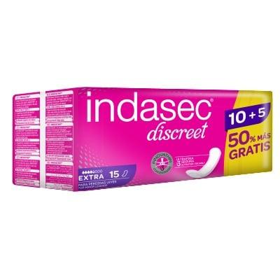 Indasec COMPRESA INDASEC DISCREET EXTRA 10 UD + 5