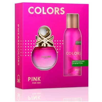 Benetton Estuche EDT Benetton Colors Pink más Desodorante
