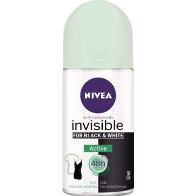 Nivea NIVEA DESODORANTE ROLL-ON INVISIBLE BLACK & WHITE ACTIVE