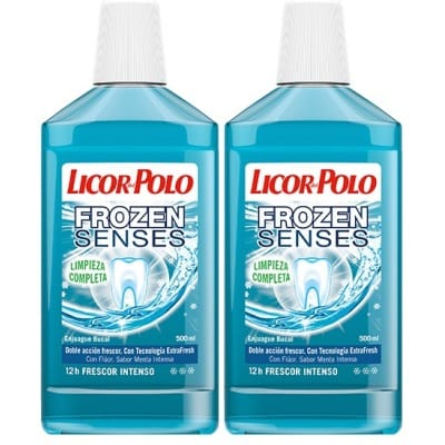 Licor Del Polo Enjuague Bucal Frozen Senses 2 X 1