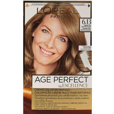Excellence Tinte Excellence Age Perfect 6.13 Castaño muy Claro Frío Dorado