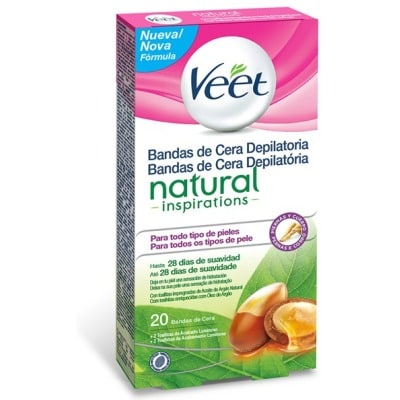 Veet Bandas De Cera Depilatoria Natural Inspirations