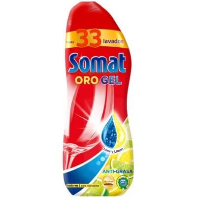 Somat Lavavajillas Gel Oro Limón