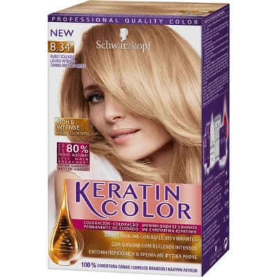 Keratin Tinte keratin 8.34 rubio soleado