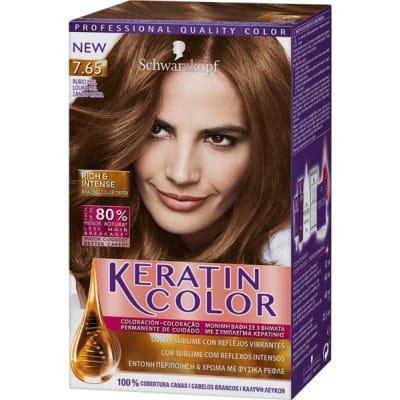 Keratin Tinte keratin 7.65 rubio miel