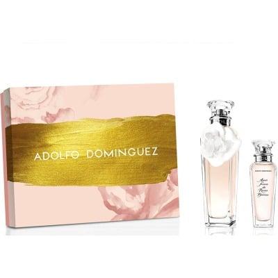 adolfo dominguez estuche agua fresca rosas blancas vaporizador+body lotion