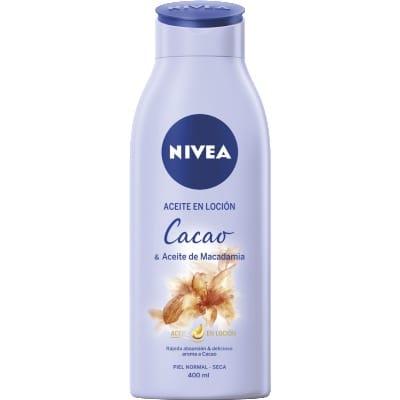 Nivea Loción corporal cacao y aceite de macadamia