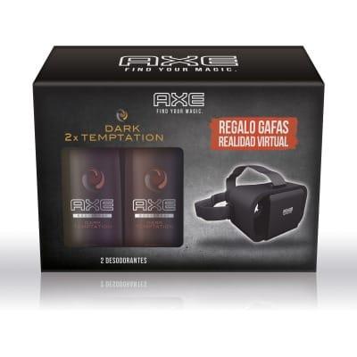 Axe Duplo Desodorante Axe Dark Temptation y Gafas Realidad Virtual
