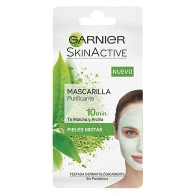 Garnier Mascarilla Purificante Skin Naturals Rescue Te y Arcilla