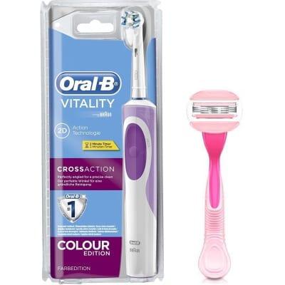 Oral-b Pack Cepillo Eléctrico Oral-B Vitality CrossAction Morado más Venus Spa Breeze