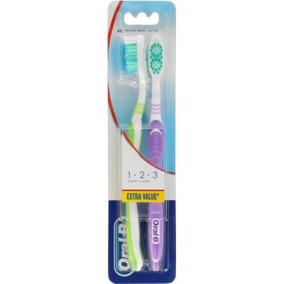 Oral-b Cepillo De Dientes Manual 1-2-3 Shiny Clean
