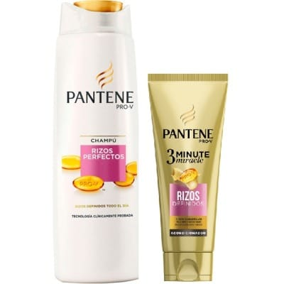 Pantene Pack Rizos Perfectos Champú y Acondicionador 3 Minutos