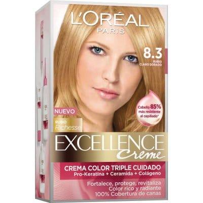 Excellence Tinte Excellence Creme 8.3 Rubio Claro Dorado