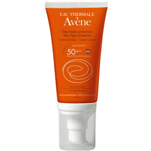 Avene CREMA SOLAR PIEL SENSIBLE CON COLOR SPF-50+ 50 ml.