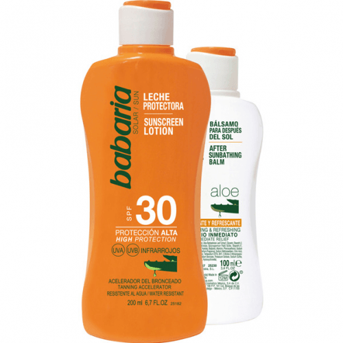 Babaria Pack Leche Protectora SPF30 Y Aftersun Aloe Vera