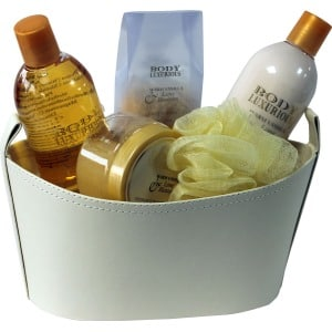 beauty & beauty set de baño body luxury cesta de cuero