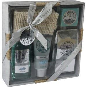 beauty & beauty set de baño ocean caja de madera