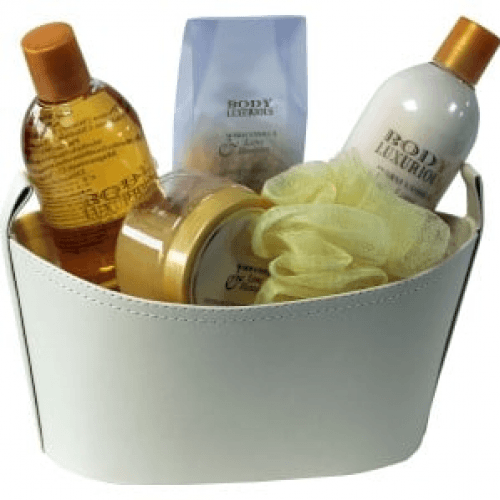 Beauty & Beauty Set De Baño Body Luxury Cesta De Cuero