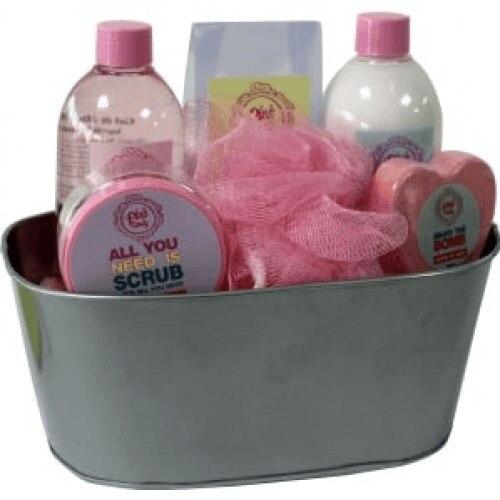 Beauty & Beauty Set De baño Pink Candy Cubo Metálico
