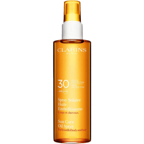 clarins spray solaire huile embellissante spf30
