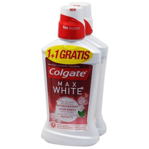 Colgate Enjuage Bucal Max White Duplo