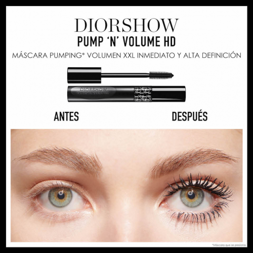 DIOR DIORSHOW PUMP &apos;N&apos; VOLUME HD<br> Máscara Pumping Volumen XXL inmediato
