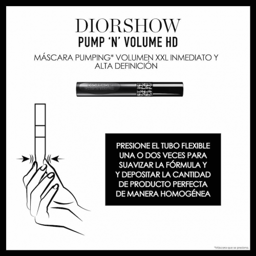 DIOR DIORSHOW PUMP 'N' VOLUME HD<br> Máscara Pumping Volumen XXL inmediato