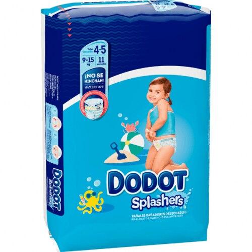 Dodot Splashers Bañador Desechable 9-15 KG Talla 4-5 Paquete 11 Unidades