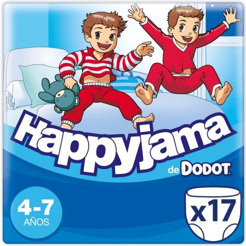 Dodot Pañales Happyjama Niño 4-7 Años 17 Unidades