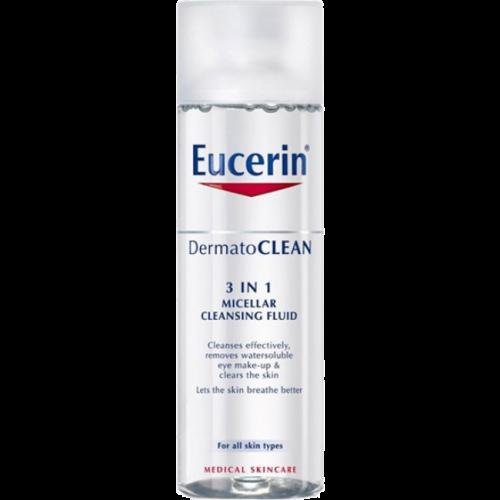 Eucerin Solución Micelar Limpiadora Dermatoclean 3 En 1