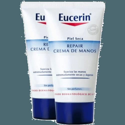 Eucerin Crema de manos repair 2 uds.
