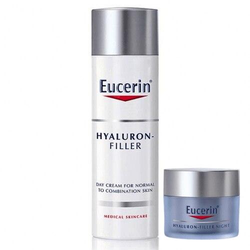 Eucerin Pack Hyaluron Filler Crema Día Piel Normal más Regalo Hyaluron Filler Crema Noche