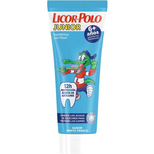 Licor Del Polo Pasta denta junior azul 6 años